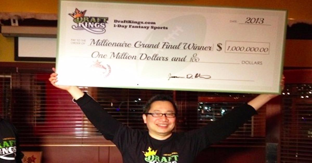 He Just Won $1,000,000 With Draft Kings