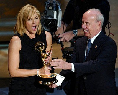 Kim Cattrall and Tim Conway