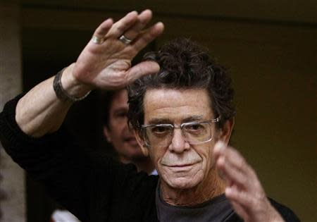 File photo of Lou Reed before his news conference at the International Literature Festival in Barcelona
