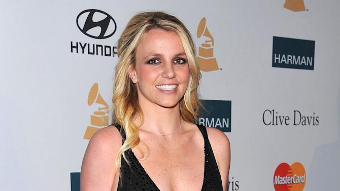 FILE - In this Feb. 11, 2012 file photo, singer Britney Spears arrives at the Pre-GRAMMY Gala & Salute to Industry Icons with Clive Davis honoring Richard Branson in Beverly Hills, Calif. Testimony has opened in a defamation lawsuit against Britney Spears' parents, with a top record executive, Barry Weiss, saying on Monday, Oct. 22, 2012, he was never told that plaintiff Sam Lutfi was her manager. (AP Photo/Vince Bucci, file)
