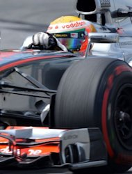 McLaren Mercedes driver Lewis Hamilton of Britain races during the Canadian Formula One Grand Prix at the Circuit Gilles Villeneuve in Montreal. Hamilton won the race