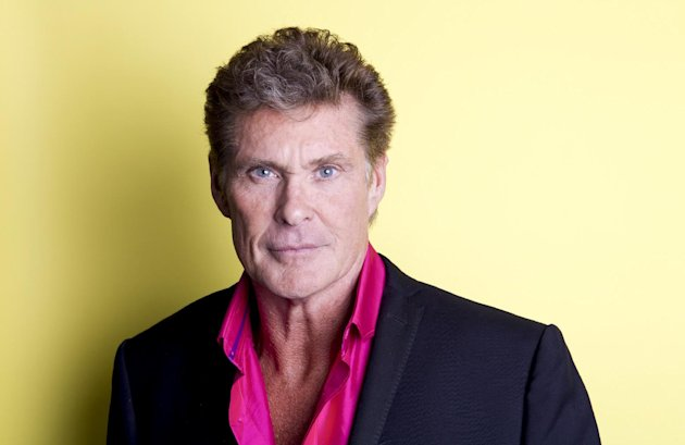 American actor, singer and producer David Hasselhoff poses for a portrait, on Thursday, Nov. 8, 2012 in New York. Hasselhoff appears in the Lifetime original movie, The Christmas Consultant airing Saturday, Nov. 10 at 8 p.m. EST on Lifetime. (Photo by Amy Sussman/Invision/AP)