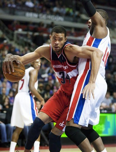 McGee, Wall help Wizards rout Pistons 98-77