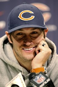 Bears quarterback Jay Cutler (AP Photo/Charles Rex Arbogast)