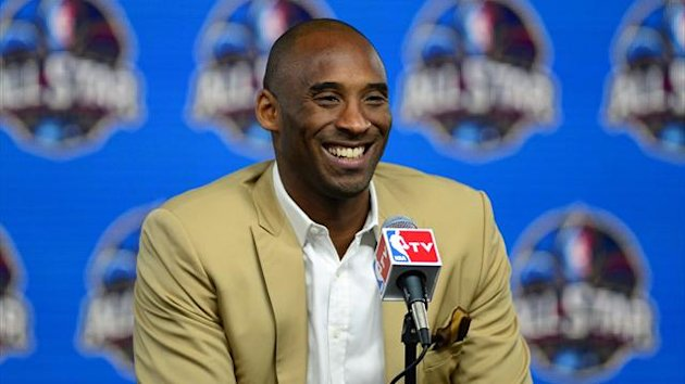 Los Angeles Lakers guard Kobe Bryant speaks during a press conference before the 2014 NBA All-Star Game (Reuters)