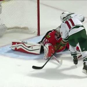 Crawford comes up with two superb pad saves