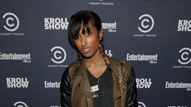 "Singer/songwriter Anjulie Persaud attends an exclusive screening of Comedy Central's ""Kroll Show"" hosted by Entertainment Weekly on Tuesday, January 15, 2013 at LA's Silent Movie Theatre in Los Angeles. (Photo by John Shearer/Invision for Entertainment Weekly/AP Images)"