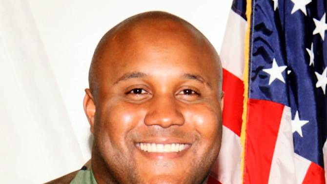 """This undated photo released by the Los Angeles Police Department shows suspect Christopher Dorner, a former Los Angeles officer.  Dorner, who was fired from the LAPD in 2008 for making false statements, is linked to a weekend killing in which one of the victims was the daughter of a former police captain who had represented him during the disciplinary hearing. Authorities believe Dorner opened fire early Thursday on police in cities east of Los Angeles, killing an officer and wounding another.  Police issued a statewide """"officer safety warning"""" and police were sent to protect people named in the posting that was believed to be written by Dorner.  (AP Photo/Los Angeles Police Department)"""