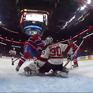 Alex Galchenyuk deflects one past Brodeur