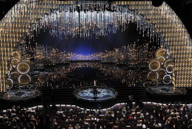 Host Seth MacFarlane performs during the Oscars at the Dolby Theatre on Sunday Feb. 24, 2013, in Los Angeles. (Photo by Chris Pizzello/Invision/AP)
