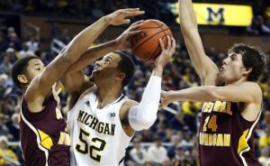 Burke leads No. 2 Michigan past Central Michigan