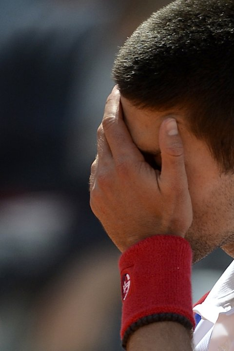 Serbian Novak Djokovic Reacts AFP/Getty Images