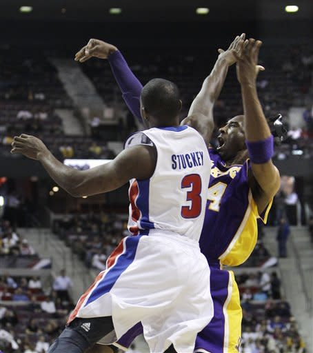 Pistons overcome Bryant, beat Lakers 88-85 in OT