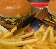 Burger and Fries photo by Arnaud 25 – Public Domain/Wikipedia Commons