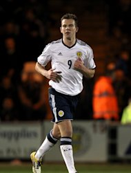 Jordan Rhodes scored after making his first Scotland start