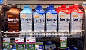 In this Friday, Jan. 23, 2015 photo, Fairlife milk …