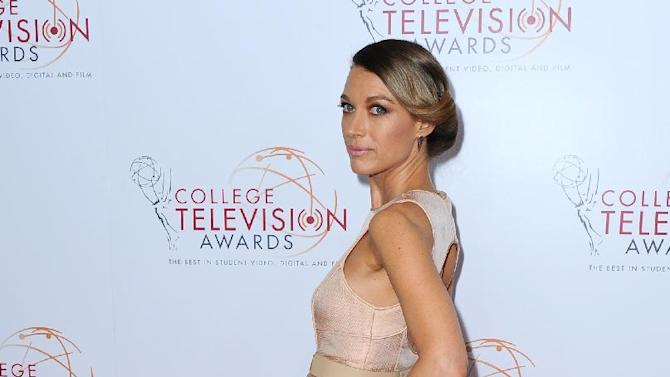 IMAGE DISTRIBUTED FOR ACADEMY OF TELEVISION ARTS & SCIENCES - Natalie Zea poses on the red carpet at the 34th College Television Awards presented by the Academy of Television Arts & Sciences Foundation at the JW Marriott Los Angeles L.A. Live onThursday, April 25, 2013 in Los Angeles, California. (Photo by Scott Kirkland/Invision for the Academy of Television Arts & Sciences/AP Images)