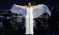 British singer Shirley Bassey performs during the Queen's Diamond Jubilee Concert at Buckingham Palace. The star-studded musical extravaganza comes on the third of four days of celebrations to celebrate Queen Elizabeth II's 60 years on the throne