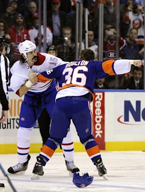 Montreal's Parros suffers 2nd concussion in fight
