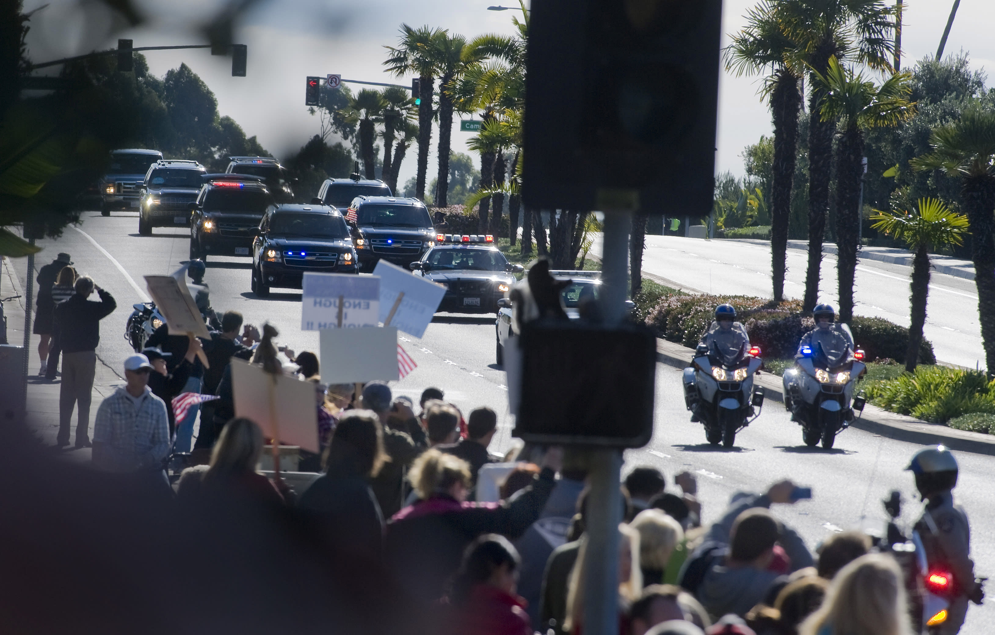 Who's behind the wheels of the presidential motorcade?