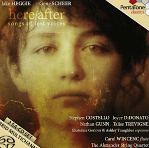 """CORRECT TO GRAMMY-NOMINATED - This undated photo provided by composer Jake Heggie shows the cover art for his new album titled """"Here/After (songs of lost voices)"""" In his album, released a dozen years after 9/11, Heggie and Grammy-nominated songwriter Gene Scheer have turned memories of grief into survivor songs — some of them surprisingly joyous. (AP Photo/Jake Heggie)"""