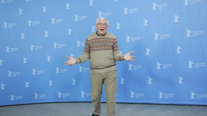 Director Davies poses during a photocall to promote the movie A Quiet Passion at the Berlinale International Film Festival in Berlin