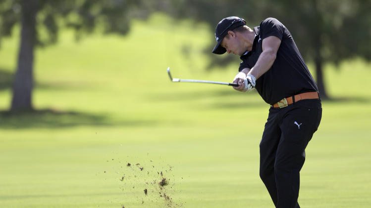 Jonas Blixt of Sweden, hits off the ninth fairway during the second round of the Justin Timberlake Shriners Hospitals for Children Open golf tournament, Friday, Oct. 5, 2012, in Las Vegas. (AP Photo/Julie Jacobson)