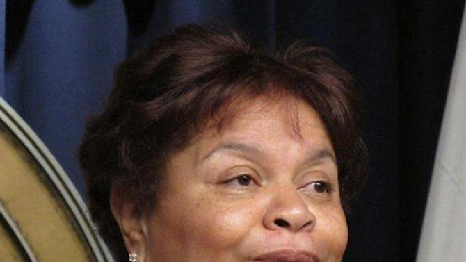 FILE - In this file photo made Feb. 4, 2013, Sheila Washington, founder of the Scottsboro Boys Museum and Cultural Center, is photographed in Montgomery, Ala. Now that the Alabama Legislature is allowing posthumous pardons for the Scottsboro Boys, there is still much work to be done before their names are officially cleared. The state Board of Pardons and Paroles must receive applications for pardons and they must show that pardons would remedy social injustices associated with racial discrimination. Washington said that will happen soon. The Scottsboro Boys, nine African American youths ranging from 13 to 19, were wrongfully convicted by all-Caucasian juries of raping two white women on a train in north Alabama more than 80 years ago. (AP Photo/Phillip Rawls, file)