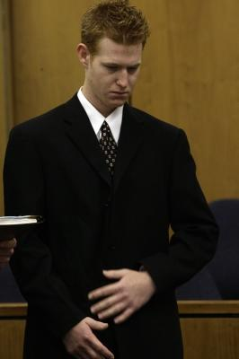 Redmond O'Neal appears in court, Malibu, Calif., Jan. 2009 -- AFP/Getty Images