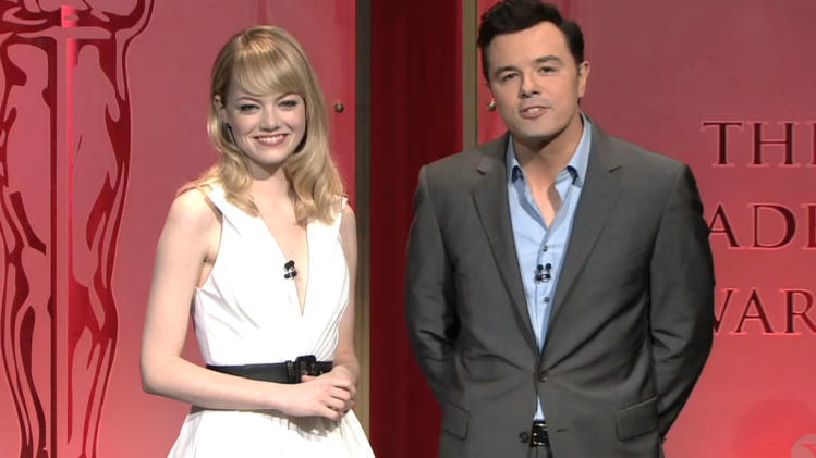 Seth MacFarlane and Emma Stone's Strange Oscar Nomination Annuncement
