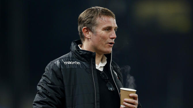Bolton manager Phil Parkinson before the match