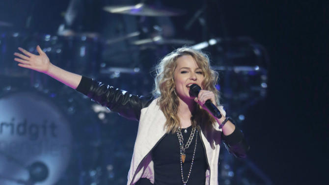 Bridgit Mendler onstage during the Radio Disney Music Awards at the Nokia Theatre on Saturday, April 27, 2013 in Los Angeles. (Photo by Todd Williamson /Invision/AP)