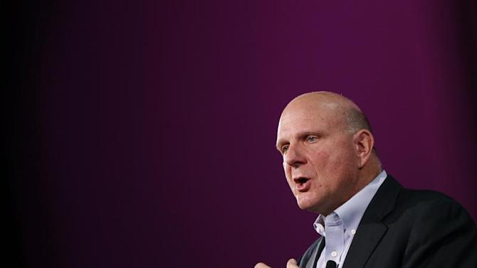 Microsoft CEO Steve Ballmer speaks during the launch of Windows Phone 8 in San Francisco