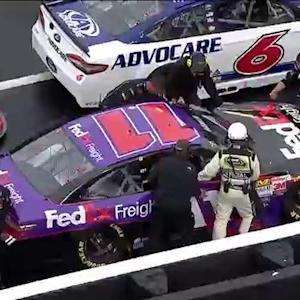 Spasms force Hamlin out of race, Jones fills in