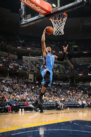 Westbrook propels Thunder past Grizzlies 116-100