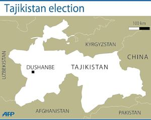 Map locating central Asian country of Tajikistan