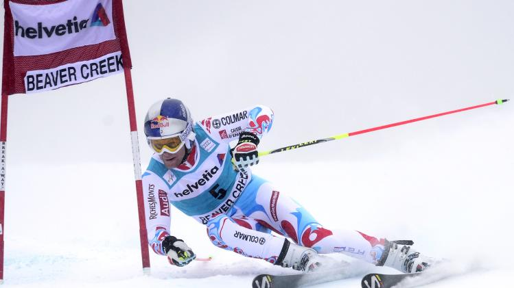 Pinturault of France skis in the first run of the men's World Cup Giant Slalom ski race in Beaver Creek