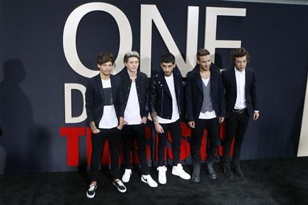 "Members of British boy band One DIrection arrive for the premiere of their documentary film ""This is Us"" in New York"