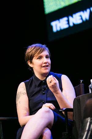 "This Oct. 7, 2012 photo released by The New Yorker Festival shows Lena Dunham, creator and star of the HBO series ""Girls,"" during The New Yorker Festival in New York. (AP Photo/The New Yorker Festival, Todd France)"