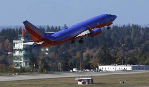 A Southwest Airlines plane takes off Monday, Oct. 28,…