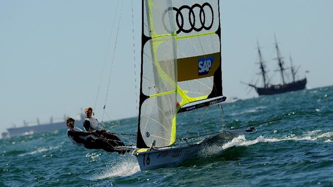 German sailors Erik Heil and Thomas Ploessel, pictured in the world sailing championships in 2011