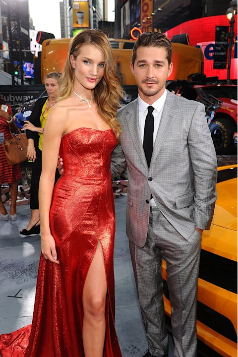 Transformers Dark of the Moon 2011 NY Premiere Rosie Huntington Whiteley Shia LaBeouf