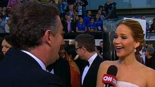 Jennifer Lawrence Looks for Al Roker On Red Carpet