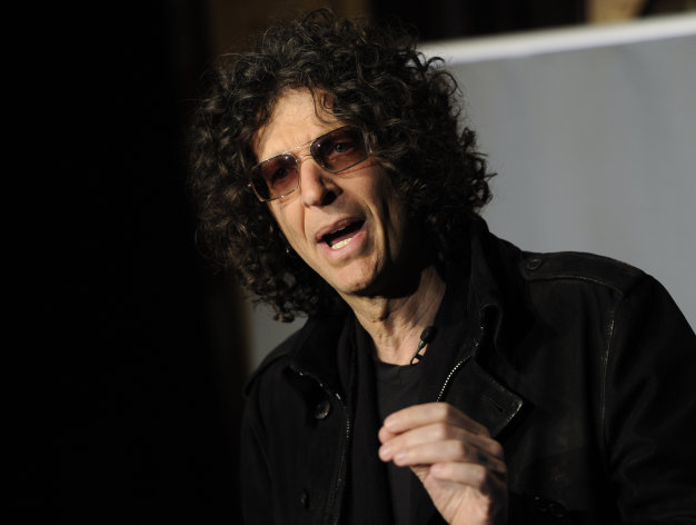 SiriusXM satellite radio talk show host Howard Stern speaks to the media about his new role as a judge on &quot;America&#39;s Got Talent&quot; at the Friars Club on Thursday, May 10, 2012 in New York. (AP Photo/Evan Agostini)