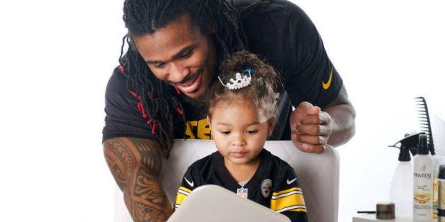 These Football Players Doing Their Daughters' Hair Will Turn You Into a Puddle of Happiness