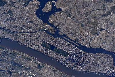 You look great from space today, Manhattan