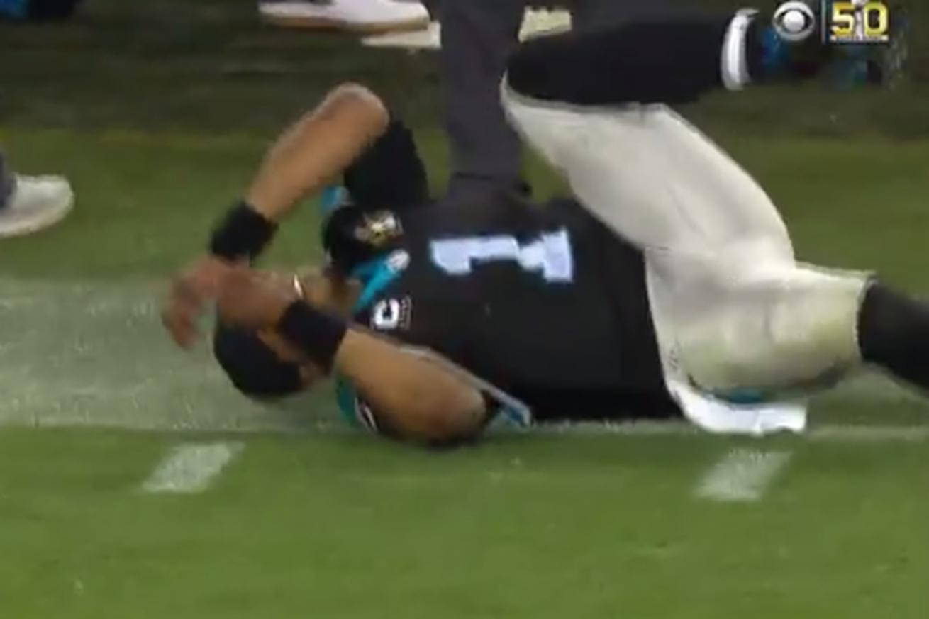 Cam Newton collapsed in agony on the sideline when Denver scored its Super Bowl-winning touchdown