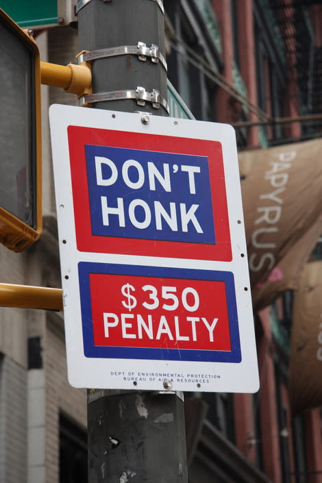 'Don't Honk' Signs to Be Removed From New York City Streets
