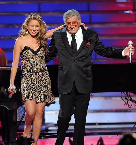 """Steppin' Out"" with Tony Bennett on American Idol last year"