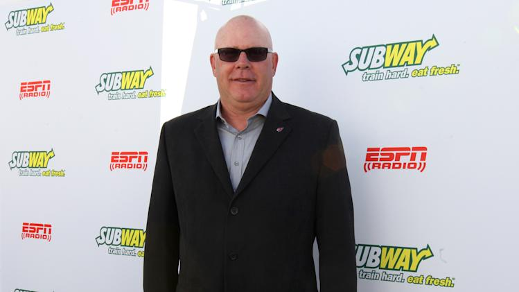 Head coach of the Arizona Cardinals Bruce Arians seen outside of the Subway Fresh Take Green Room, on Friday, Feb. 1, 2013 in New Orleans. (Photo by Barry Brecheisen/Invision for SUBWAY/AP Images)
